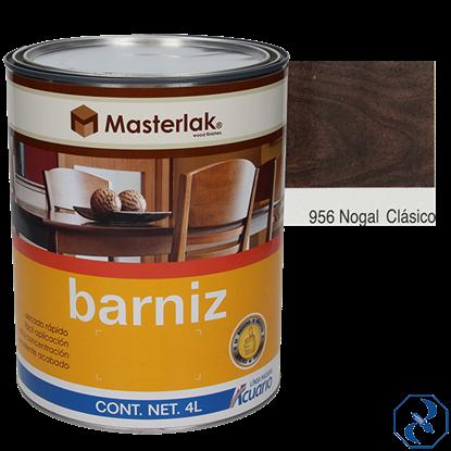 Imagen de BARNIZ 4 L NOGAL CLASICO MASTERLAK ACUARIO MM95640