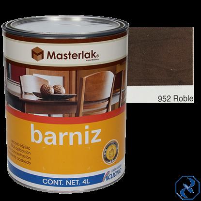 Imagen de BARNIZ 4 L ROBLE MASTERLAK ACUARIO MM95240