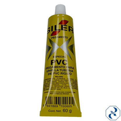 Imagen de PEGAMENTO 60 GR PARA PVC EN TUBO SILER PVC060