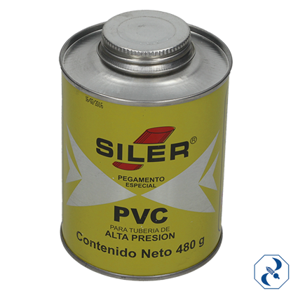 Imagen de PEGAMENTO 480 GR AMARILLO PARA PVC EN BOTE SILER PVC480