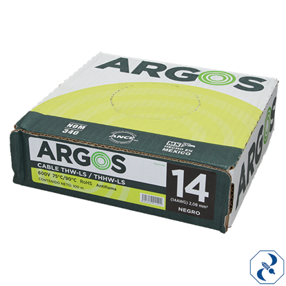 Imagen de CABLE 14 100 M NEGRO ARGOS 1100140