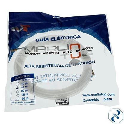 Imagen de GUIA 15 M NYLON PARA ELECTRICISTA REDONDA BLANCA HIRLON