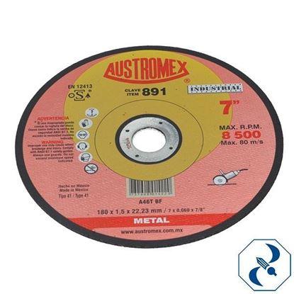 Imagen de DISCO 7 PULG CORTE DE METAL TIPO 41 INDUSTRIAL 891 AUSTROMEX