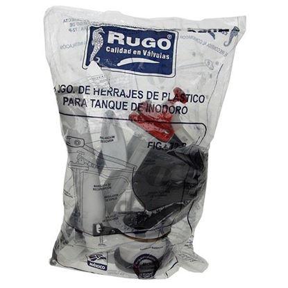 Imagen de HERRAJES (JUEGO) PARA WC DE PLASTICO RUGO 72P