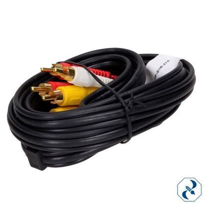 Imagen de CABLE 1.8 M AUDIO Y VIDEO ORO STEREN 206-276