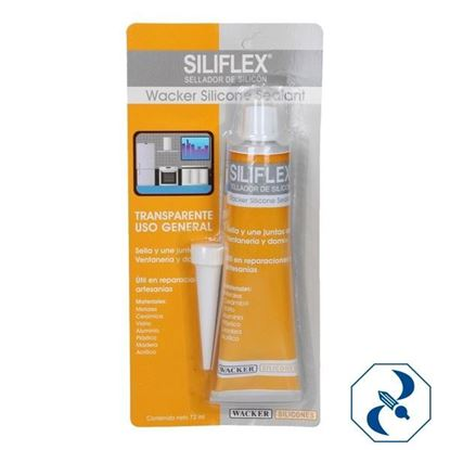 Imagen de SILICON 72 ML SELLADOR TRANSPARENTE BLISTER SILIFLEX