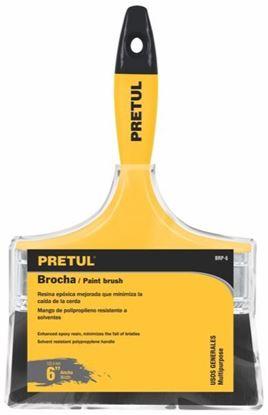 Imagen de BROCHA CON MANGO DE PLASTICO 6 PULG  PRETUL BRP-6