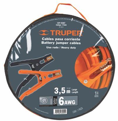 Imagen de CABLES PASA CORRIENTE 35 M CALIBRE 6 AWG TRUPER CAP-3506T