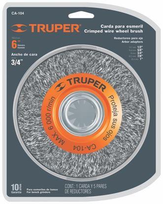 Imagen de CARDA 6 X 3/4 PULG PARA ESMERIL TRUPER CA-104