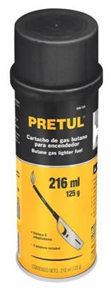 Imagen de CARTUCHO DE GAS BUTANO PARA ENCENDEDOR, 125 ML PRETUL GAS-125