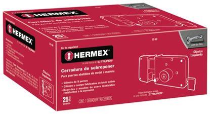 Imagen de CERRADURA SOBREPONER MODELO 760 IZQUIERDA LLAVE TETRA HERMEX CS-80I