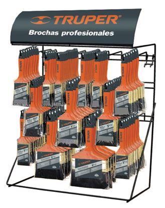 Imagen de RACK PARA BROCHAS MANGO DE PLASTICO CON PRODUCTO TRUPER R-BRT-C