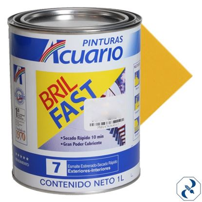 Imagen de ESMALTE 1 L AMARILLO CROMO BRIL FAST EB60610