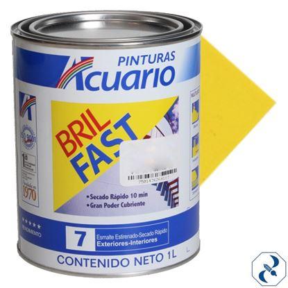 Imagen de ESMALTE  1 L AMARILLO LIMON BRIL FAST EB61210