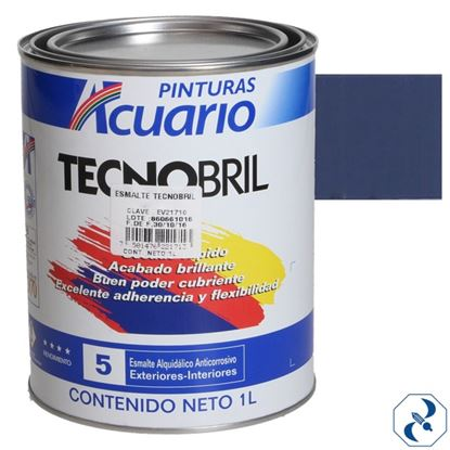Imagen de ESMALTE DE 1 L AZUL FUERTE TECNOBRILL ACUARIO EV20310