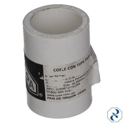 Imagen de COPLE CON TOPE FA00 1/2 IUSA PVC HIDRAULICO 615383