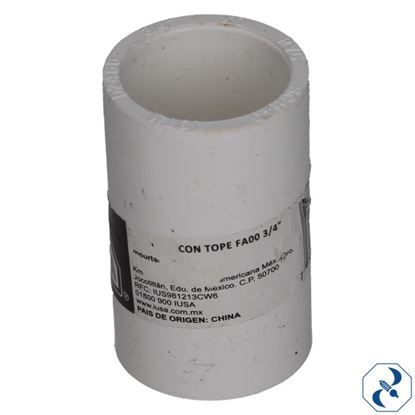 Imagen de COPLE CON TOPE FA00 3/4 IUSA PVC HIDRAULICO 615384