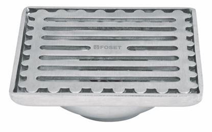 Imagen de RESUMIDERO CUADRADO DE ACERO INOX 4 X 4 PULG FOSET RS-701