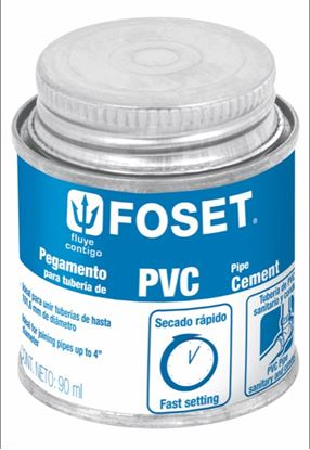 Imagen de PEGAMENTO PARA  PVC EN LATA 90ML FOSET PPVC-90