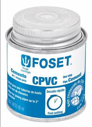 Imagen de PEGAMENTO PARA CPVC EN LATA 90ML FOSET PCPVC-90