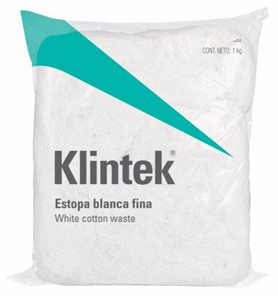 Imagen de ESTOPA, 1 KG, COLOR BLANCA KG KLINTEK ESTO-1B