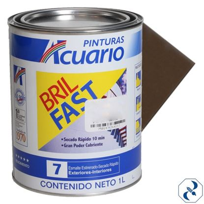 Imagen de ESMALTE 1 L CHOCOLATE  BRIL FAST ACUARIO EB6191003