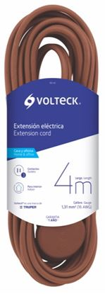 Imagen de EXTENSION ELECTRICA DOMESTICA 4 M CAFE  VOLTECH ED-4C