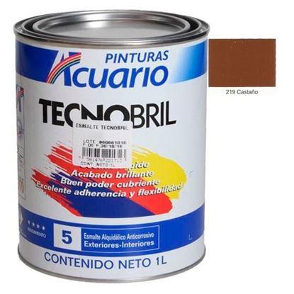 Imagen de ESMALTE 1 L  CASTAÑO TECNOBRIL EV21910