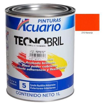 Imagen de ESMALTE 1 L  NARANJA TECNOBRIL EV21010