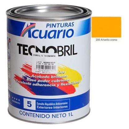 Imagen de ESMALTE 1 L AMARILLO CROMO TECNOBRIL EV21710