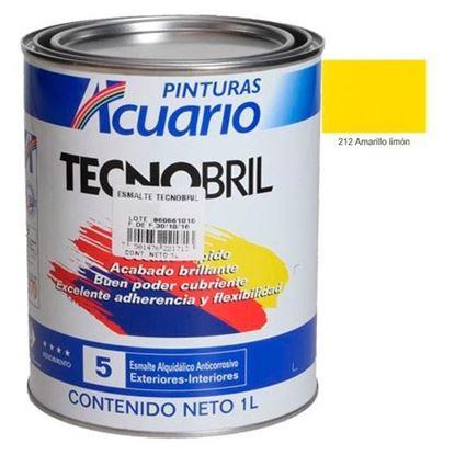 Imagen de ESMALTE DE 1 L AMARILLO LIMON TECNOBRILL ACUARIO EV21210