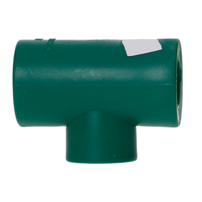Imagen de TEE RED EXTREMA 25X20X20 MM TERMOFUSIONABLE PPR VERDE PLUS 10201220