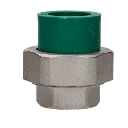 Imagen de TUERCA UNION MIXTA 25 MM 3/4 TERMOFUSIONABLE PPR VERDE PLUS 17201225