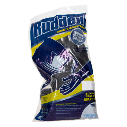 Imagen de GUANTE 8 RUDDEX NEGRO 28 CM ADEX RX28