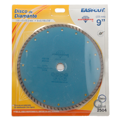 "Imagen de D DISCO DE DIAMANTE EASY-CUT TURBO 9"" AUSTROMEX 2504"