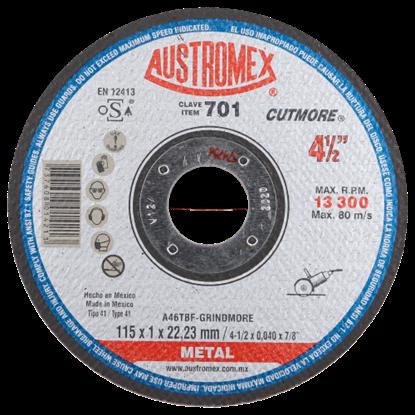 Imagen de DISCO 45 PULG CORTE METAL GRINDMORE AUSTROMEX 701