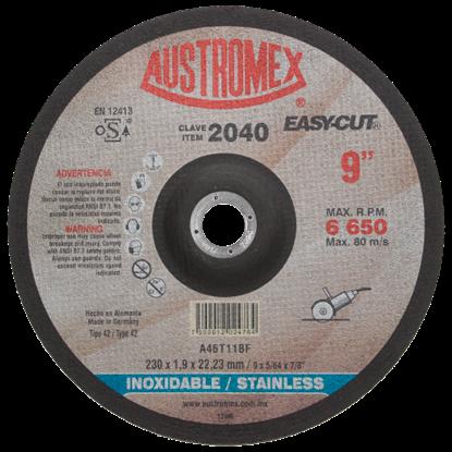 """Imagen de DISCO 9"""" PULG CORTE DE METAL EASY-CUT ACERO INOX AUSTROMEX 2040"""