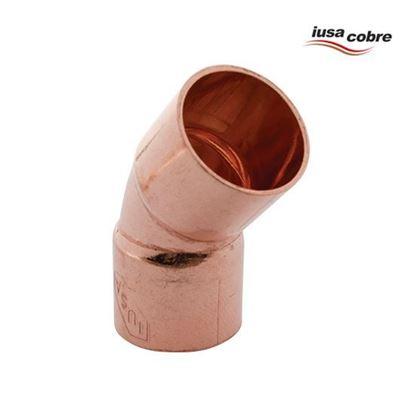 Imagen de CODO 45 DE 1/2 COBRE ECONOMICO IUSA 616841