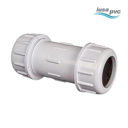 Imagen de COPLE DE COMPRESION 1/2 PVC HIDRAULICO CED-40 IUSA 615339