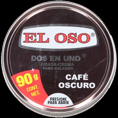 Imagen de GRASA CREMA DOS EN UNO CAFE OSCURO 90 GR EL OSO 8019A