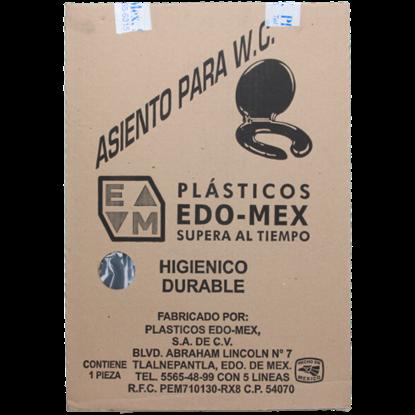 Imagen de ASIENTO GRIS OXFORD  PARA WC LUJO ALARGADO EDO MEX 4025-13