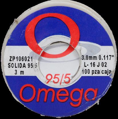 Imagen de SOLDADURA 95/5 SOLIDA 3 M 200 gr   CHICA OMEGA ZP 106021