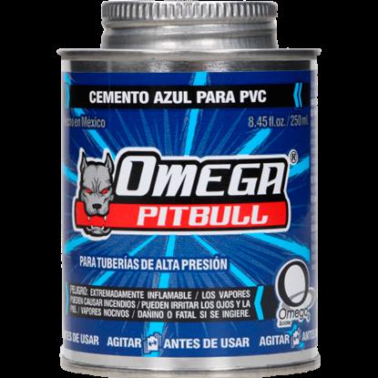 Imagen de PEGAMENTO PVC 250ML AZUL CONDHUMEDAS OMEGA CA100014