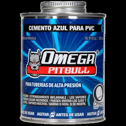 Imagen de PEGAMENTO PVC 500 ML AZUL COND HUMEDAS OMEGA CA100012