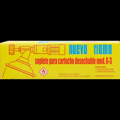 Imagen de SOPLETE DE CARTUCHO MOD. G-3 (BOQUILLA GALACTICA Y CARTUCHO EN CAJA) LINMEX G-3 1134