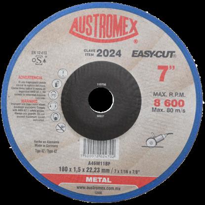 Imagen de DISCO DE CAZUELA DE 7X1.5 MM  CORTE DE METAL  EASY CUT  AUSTROMEX 2024