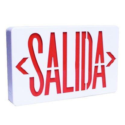 """Imagen de LÁMPARA DE SEÑALIZACIÓN """"SALIDA"""" COLOR ROJO ARGOS 9401592"""