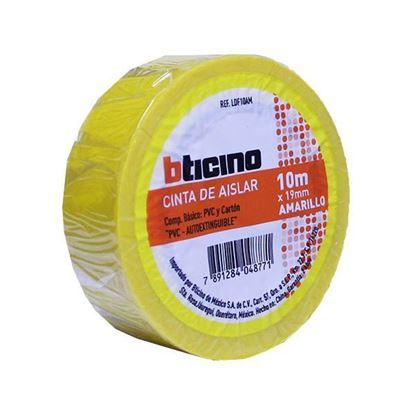 Imagen de CINTA DE AISLAR COLOR AMARILLO 19MM X 10 M BTICINO LDF10AM