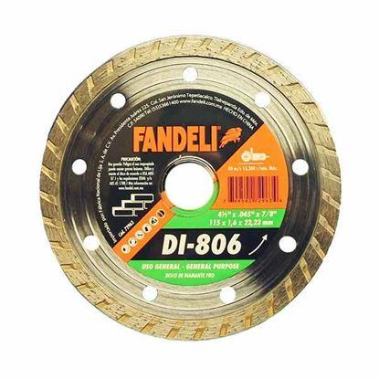 """Imagen de DISCO DIAMANTE TURBO 4 1/2"""" 115X 1.6  X 22.2  FANDELI 72963"""