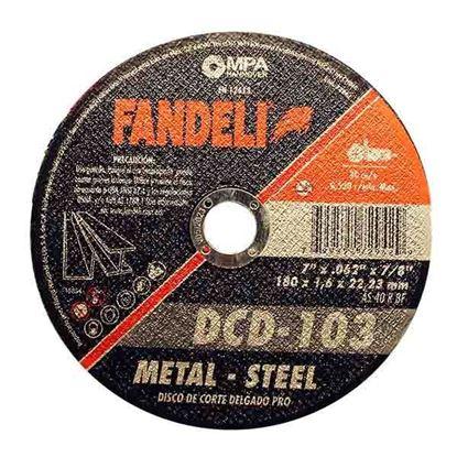 """Imagen de DISCO CORTE DELGADO METAL 7"""" FANDELI 72942"""